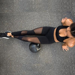 Sexy Mesh Patchwork Sports Leggings For Yoga, Gym Workout, Running, Cycling