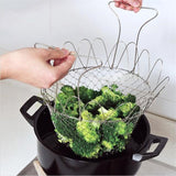 Chef basket - Foldable Steam Rinse Strain Fry Kitchen Cooking Tools