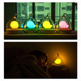 Kids Night Light Birdcage USB Charge Rechargeable Touch Sensor Dimmable Lamps