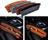 Car Premium Leather Seat Gap Storage Bag - 2pcs