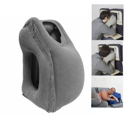 Amazing Inflatable Travel Pillow for Sleeping On Planes or Work Desk