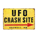 Warning Restricted Military Area 51 Vintage Metal sign