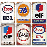 Gas Station Decorative Vintage Metal Signs