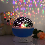 Rotation Night Projector Light - Kids Bed Lamp