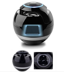 Magic Ball Boomer Wireless Bluetooth Speakers with Mic, TF Card, FM Radio, LED Light