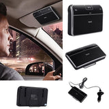 Bluetooth In-Car Speakerphone on Sun Visor + Music Receiver + Car Charger