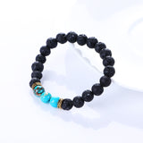 Natural Chakra Lava Stone With Healing Balance Beads Bracelet