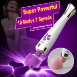 Fantasy Rechargeable 10 Frequency 7 Speed Magic Wand Powerful Clitoris Stimulator Vibrator
