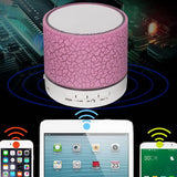 Portable Funky Wireless Bluetooth Speaker with Colourful LED Light and Mic