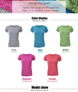 Women Short Sleeve Quick-Dry Breathable Tees Suitable for Yoga, Exercise, Gym, Running