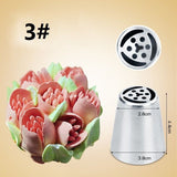 Stainless Steel Wedding Cake Design Butter Cream Flower Decorating Piping Nozzle - 7 pcs