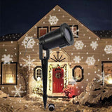 Outdoor LED Light Projector with Snowflake Effect for Home Garden & Landscape Lighting