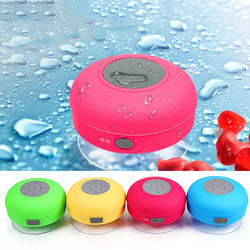 Water Resistant Bluetooth Shower Speaker, Handsfree Portable Speakerphone with Built-in Mic