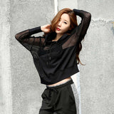 Women Long Sleeve Hoodies Casual Breathable Quick-Dry Sports Jacket