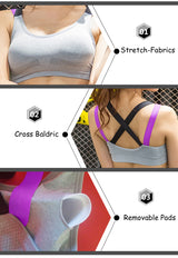 Colorful Urban Seamless Padded Push Up Sports Bra Suitable Yoga, Gym, Running