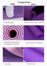 Non-slip TPE 6mm Thick Yoga Mat