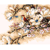 Beautiful Flowers And Birds Paint-By-Number Kit