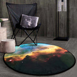 Cosmic Outer Space Soft Thicken Coral Velvet Round Carpet and Rug Non-slip Absorbent Mats