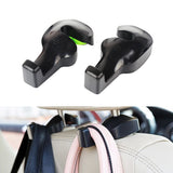 Universal Car Vehicle Back Seat Headrest Hanger Holder Hook (Black -Set of 2)
