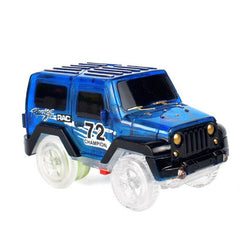 Electronics LED Car Toys Flashing Lights Play with Tracks Together
