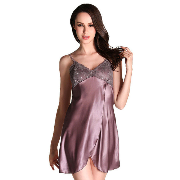 Lace satin silk nightgown Nighties Sleepwear Nightwear
