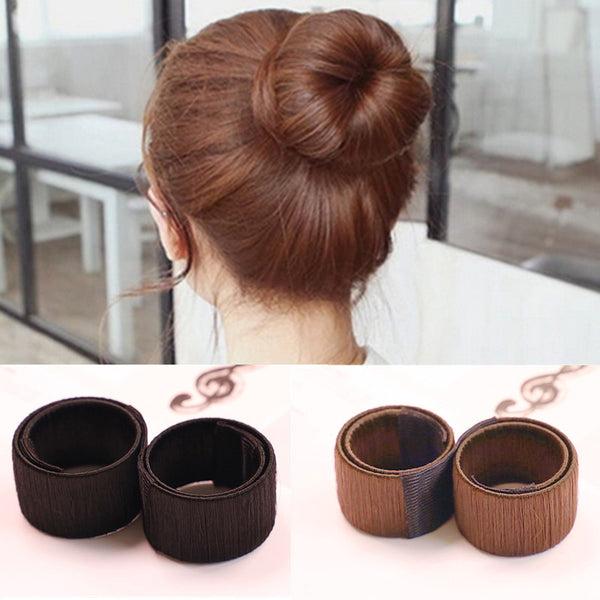 Women's Hair Bun Maker French Twist Hair Fold Wrap Snap