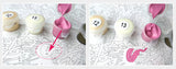 Pink Flowers Paint-By-Number Kit