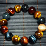 Natural Stone Tiger Eye Buddha Bracelet