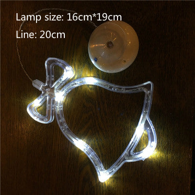 LED Christmas Decorative Glass Window Sucker Lamp