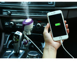 Car Humidifier + Air Purifier + Aroma Diffuser
