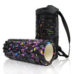 Premium EVA Foam Roller 33cm x 14cm WITH BAG For Pilates, Core/Ab/Back Exercise and Massage Therapy
