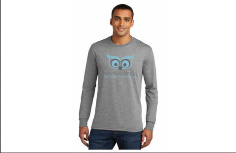 Long Sleeve Owl T-shirt Grey Frost