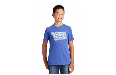 Montana Outline Kids T-shirt