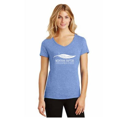 Women's V-Neck Feather