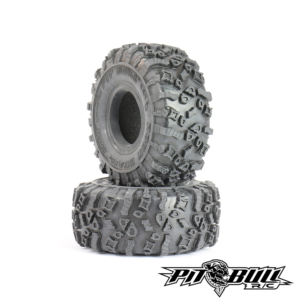 PB9020AK - PITBULL ROCK BEAST (ORIGINAL) XOR 1.55 RC TIRES (ALIEN KOMPOUND) with FOAM - 2pcs