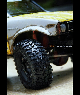 PB9003NK - PITBULL - 1.9 ROCK BEAST SCALE RC TIRES W/2 STAGE FOAM - 2pcs