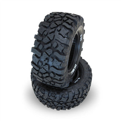 PB9004BKW - PRE-MOUNTED - PITBULL - 2.2/3.0 ROCK BEAST XOR B/SC (BASHER EDITION) SCALE RC SHORT COURSE TIRES (SCT) // BASHER KOMPOUND (MEDIUM - 2 BOLTS) - 2tires+2foams+2rims