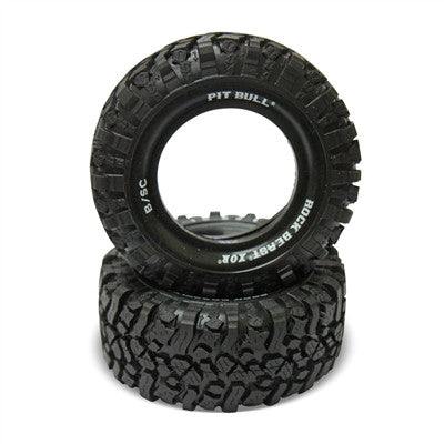 PB9004ZKSC - PIT BULL - 2.2/3.0 ROCK BEAST XOR B/SC (BASHER EDITION) SCALE RC SHORT COURSE TIRES (SCT) // ZUPER KOMPOUND (SOFT - 1 BOLT) - 2tires+2foams