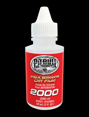 PITBULL PBX SILICONE SHOCK & DIFF FLUID - VARIOUS // 1 - 2fl.oz. (59ml) bottle