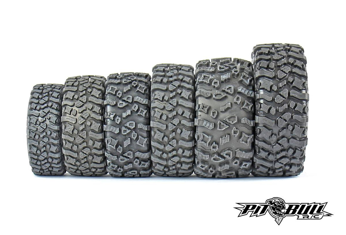 PB9009ZDK - PIT BULL - 3.8 ROCK BEAST XL SCALE MONSTER TRUCK RC TIRES W/FOAM - 2pcs