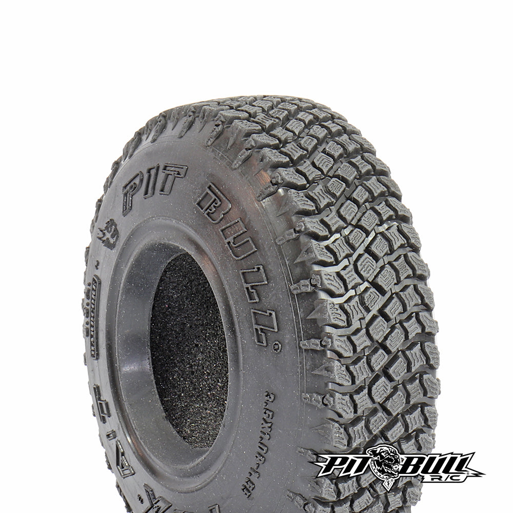 PB9019AK - PITBULL - 3.5X1.08-1.55 PBX A/T HARDCORE SCALE RC TIRES (ALIEN KOMPOUND) W/FOAM - 2pcs