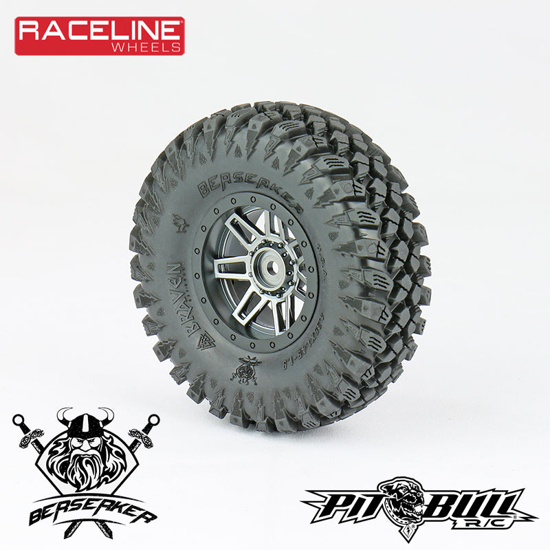 1.9 & 2.2 RACELINE #931 INJECTOR SCALE - GLUE-ON WHEELS// BLACK, CHROME OR GUN METAL WHEELS (INCLUDES 2WHEELS)
