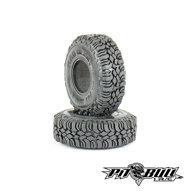 PB9007NK - PITBULL - 1.9 MAD BEAST SCALE RC TIRES // KOMP KOMPOUND // W/2 STAGE FOAM - 2pcs