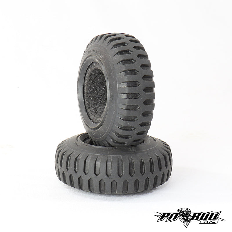 PB9030AK - 3.45x.985-1.9 Scale RC TEMCO NDT MILITARY TIRE / ALIEN KOMPOUND / w/Foam (2 tires & 2Foams)