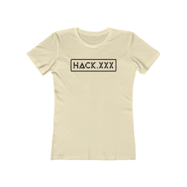 HACK.XXX (Women's Tee - Black Text)
