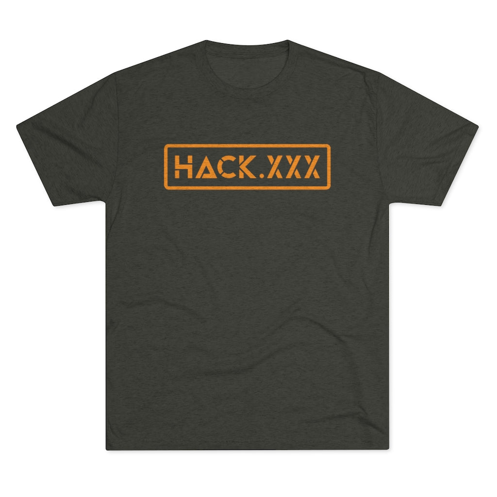 HACK.XXX (Men's Tri-Blend Crew Tee)