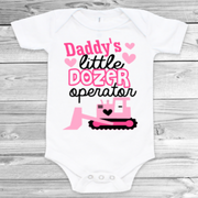 Daddy's Little Dozer Operator Baby Girl Bodysuit