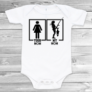 Fishing Mom Unisex Baby Bodysuit