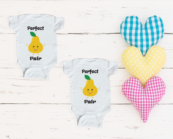 Baby Onesies-  Perfect Pair (twin set)