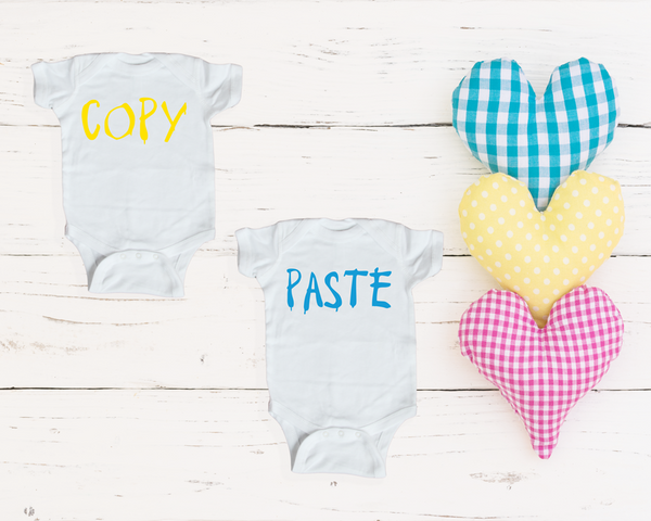 Baby Onesies- Copy/Paste (Twin Set)